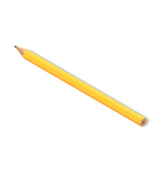 yellow pencil for drawing icon isometric style vector image