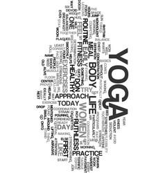 Yoga for women basic yoga lessons for women text vector