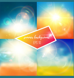 bright bluish summer backgrounds vector image vector image