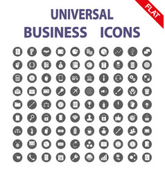 business universal icons flat vector image vector image