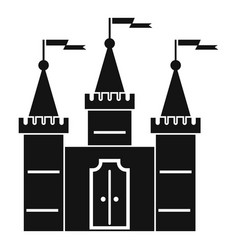 castle icon simple style vector image vector image