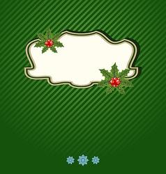 Christmas holiday card ornamental design elements vector image