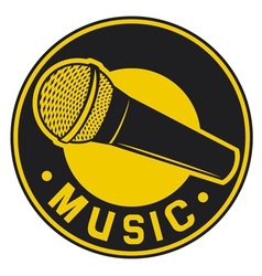Classic Microphone symbol vector image vector image