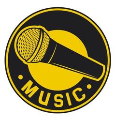 Classic microphone symbol vector