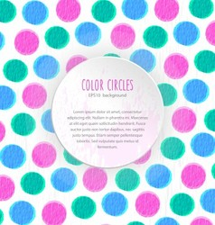 Color circles background vector image