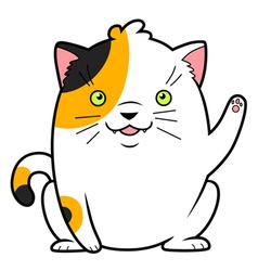 Japanese cat of luck vector image