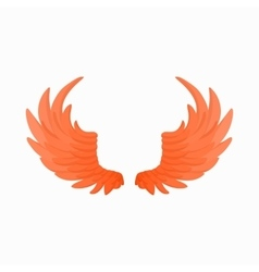 Pair of fire wings icon cartoon style vector image vector image
