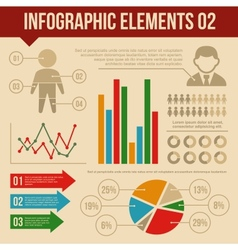 Retro Infographics Elements Set 2 Information and vector image