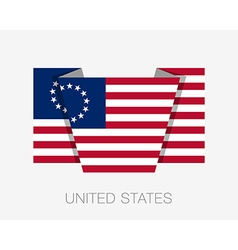 American betsy ross flag flat icon vector