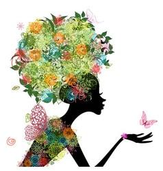 girl arabesque vector image vector image