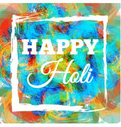 happy holi spring festival vector image
