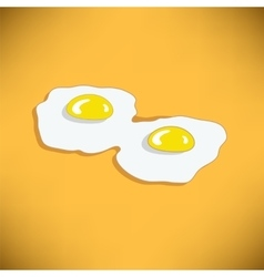 Two fried eggs vector