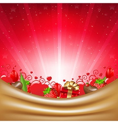 Valentines Day Card With Sunburst vector image