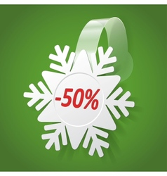 Wobbler with White Snowflake Editable background vector image vector image