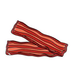 bacon stripes design vector image vector image