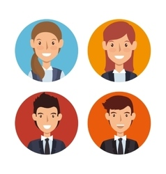 business people characters icon vector image