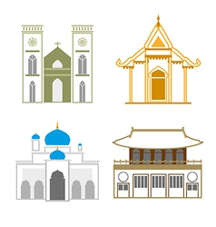 church outline vector image