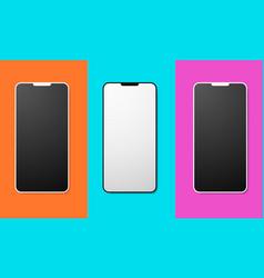 mobile phone mockup set vector image vector image