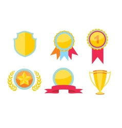 Trophy and awards icons set vector image