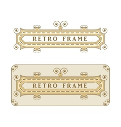 Vintage frame with decorative and floral elements vector image vector image