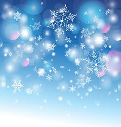 winter graphic background with different snow snow vector image