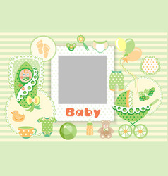 baby green set vector image