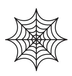 cobweb icon flat style isolated on white vector image vector image