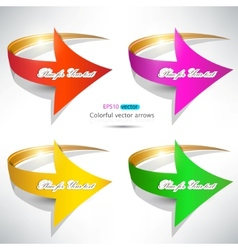 colorful arrows on white background vector image