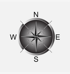 compass compass rose vector image vector image
