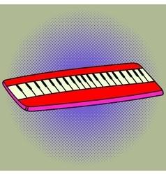 Piano Pop art vector image vector image