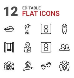12 boy icons vector