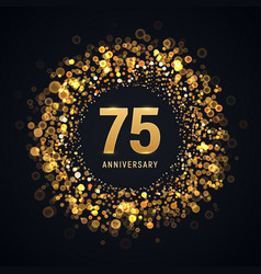 75 years anniversary isolated design vector image