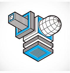abstract 3d geometric shape polygonal figure vector image