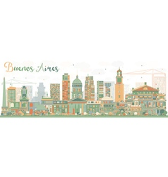 Abstract Buenos Aires Skyline vector image