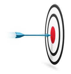 Arrow hitting center target vector
