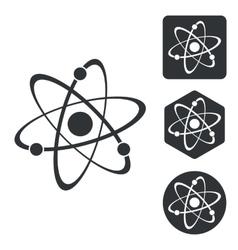 Atom icon set monochrome vector image