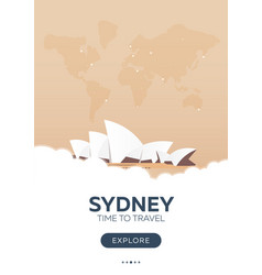 australia sydney time to travel travel poster vector image