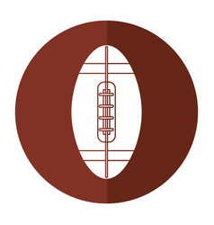 Ball american football icon shadow vector