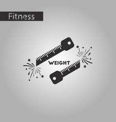 black and white style icon weight loss logo vector image