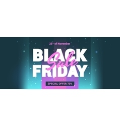 Black Friday sale in the style of 80 s vector image