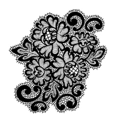 Black lace ornament vector