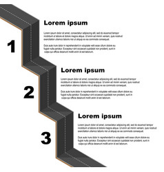 black road infographic vector image