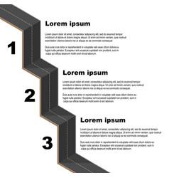 Black road infographic vector