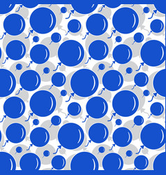 Blue party balloon pattern on white background vector