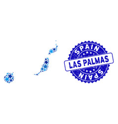 Blue star las palmas province map composition and vector