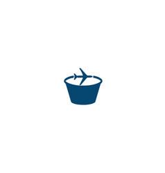 Bucket-travel-logo vector