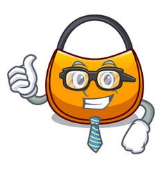 Businessman beautifully hobo bag on character vector