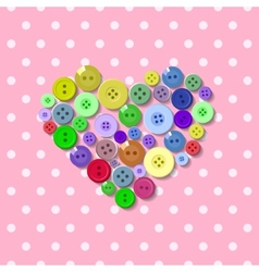 Buttons Heart Valentine vector image