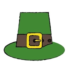 Cartoon green saint patrick day top hat with vector