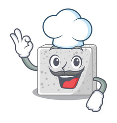 Chef feta cheese pieces character vector